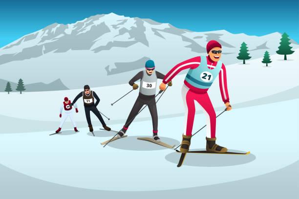 496 Cross Country Skiing Illustrations Clip Art Istock