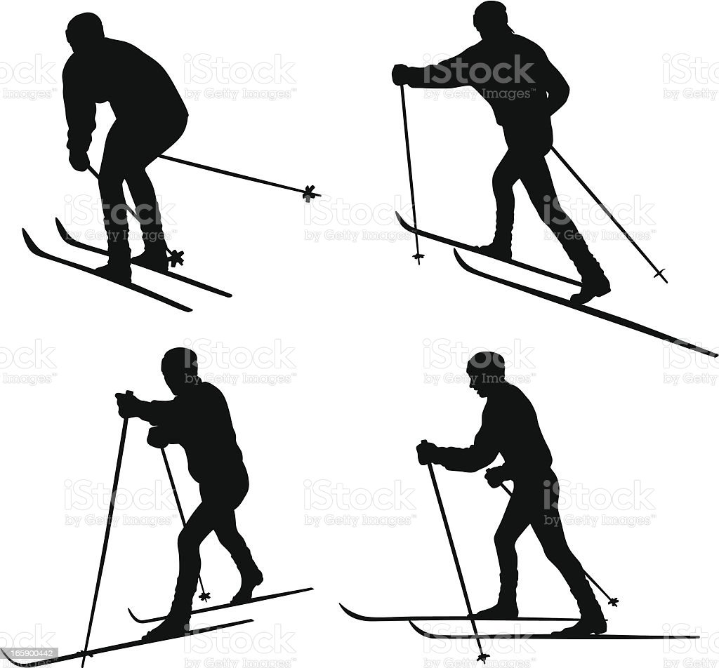 royalty free cross country skiing clip art vector images Patrol Dog cross country vector silhouette vector art illustration