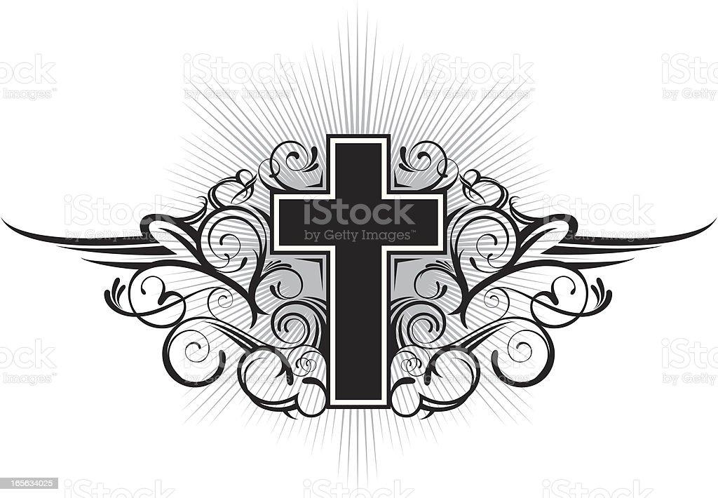 cross emblem royalty-free stock vector art