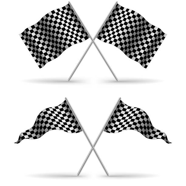 Checkered Flag Illustrations, Royalty-Free Vector Graphics