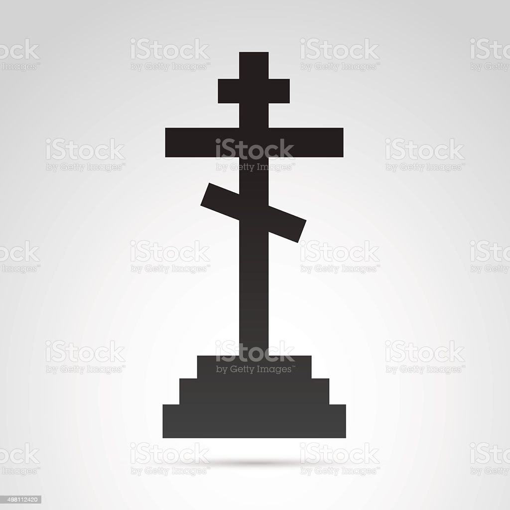 Cross icon isolated on white background. vector art illustration