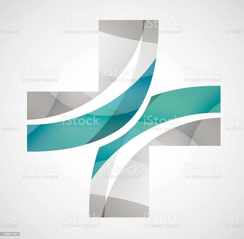 Cross Logo Creative Medicine vector art illustration