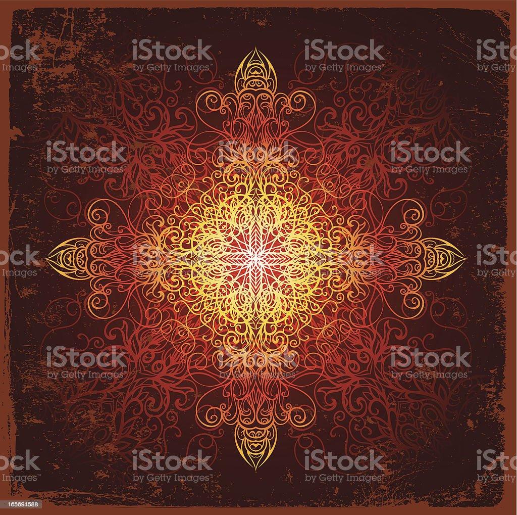 cross mandala royalty-free stock vector art