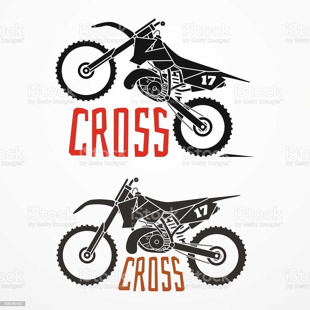 Cross motorcycle logo stock vector art more images of for Logo empresa