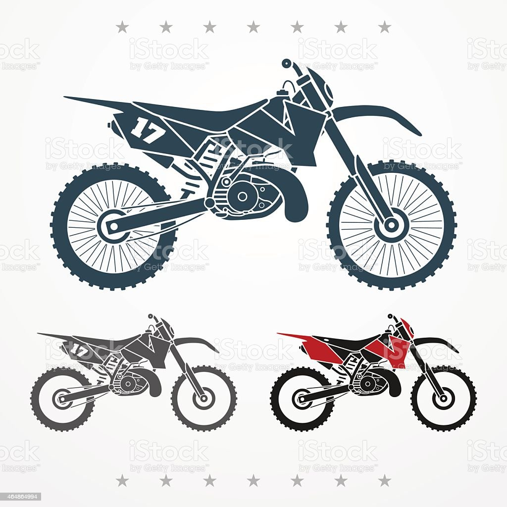 Cross motorcycle vector art illustration