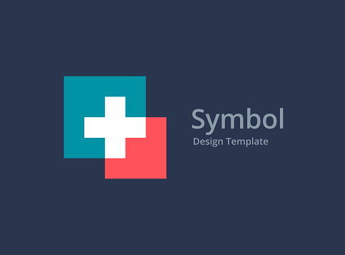 Cross or plus medical icon