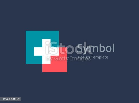 istock Cross or plus medical icon 1249998122