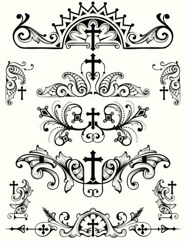 Cross Ornament Set christian religion symbols