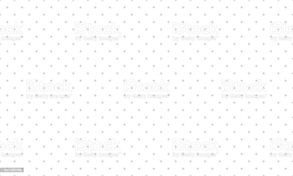 Cross pattern seamless gray on white background. Plus sign abstract background vector. vector art illustration