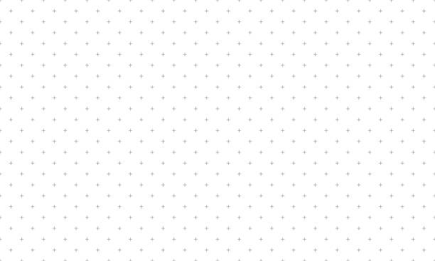 Cross pattern seamless gray on white background. Plus sign abstract background vector. Cross pattern seamless gray on white background. Plus sign abstract background vector. simplicity stock illustrations