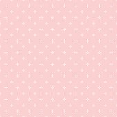 Cross pattern seamless white line on pink rose color background. Cross abstract background vector.