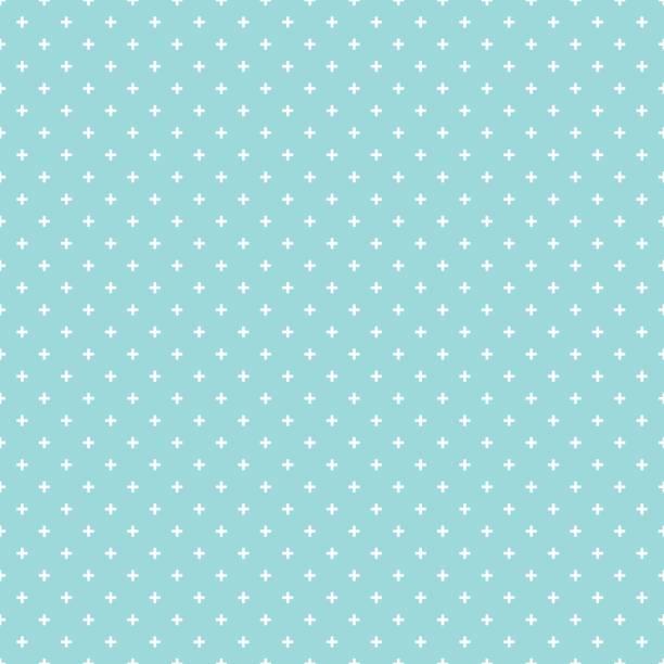 stockillustraties, clipart, cartoons en iconen met kruis de naadloze wit patroon op groene aqua kleur achtergrond. kruis abstracte achtergrond vector. - background baby