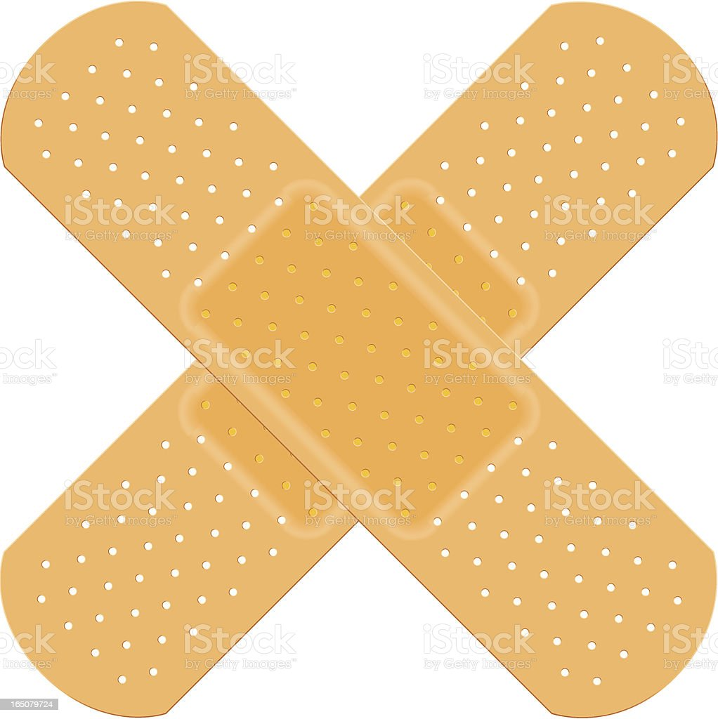 Cross Plasters royalty-free stock vector art