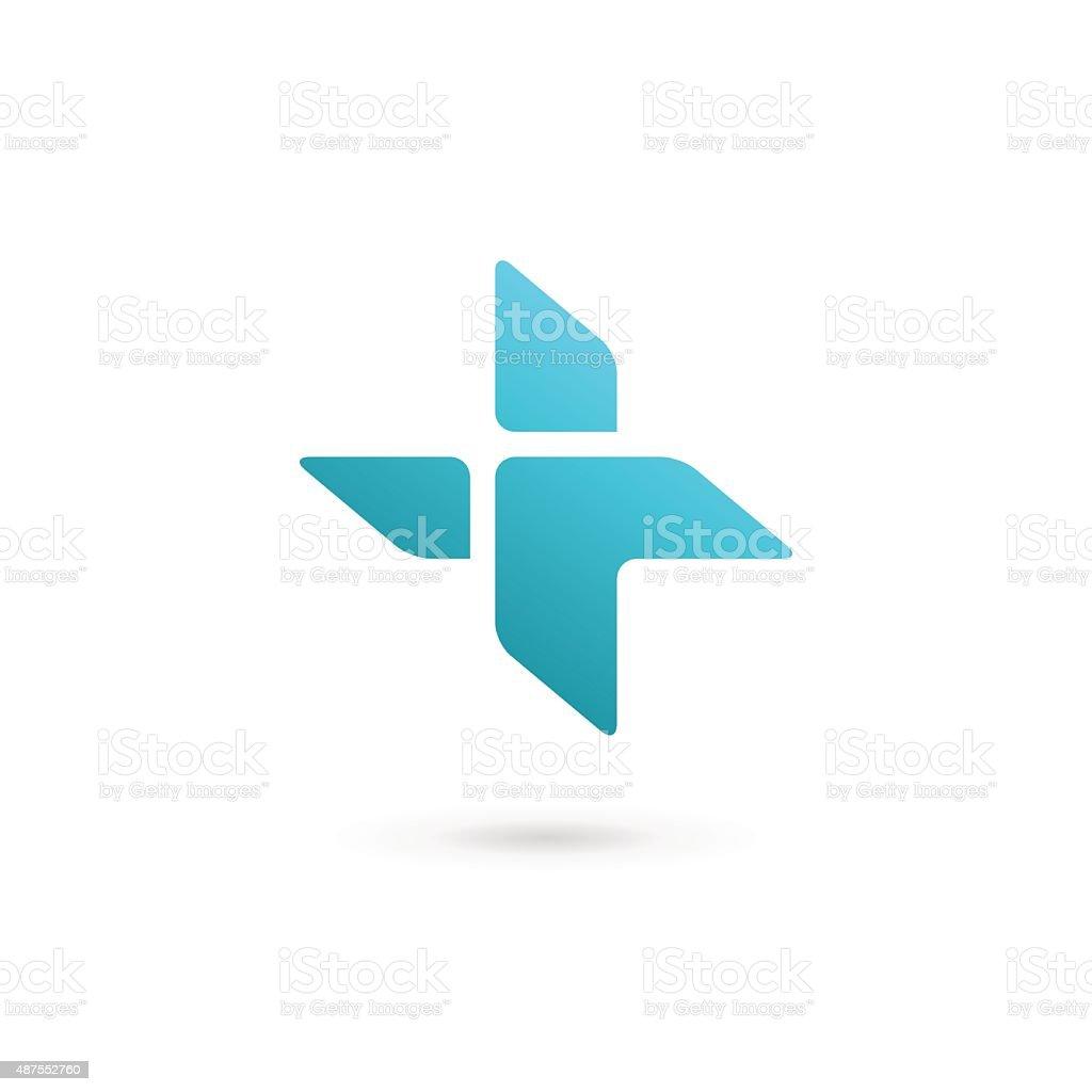Cross plus medical icon design template elements vector art illustration