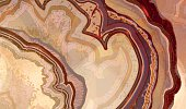 Cross section of agate crystal, abstract texture.