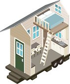 Cross Section View of a Tiny House