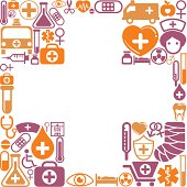 Cross shape pattern with medical icon