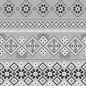 Cross stitch embroidery winter.