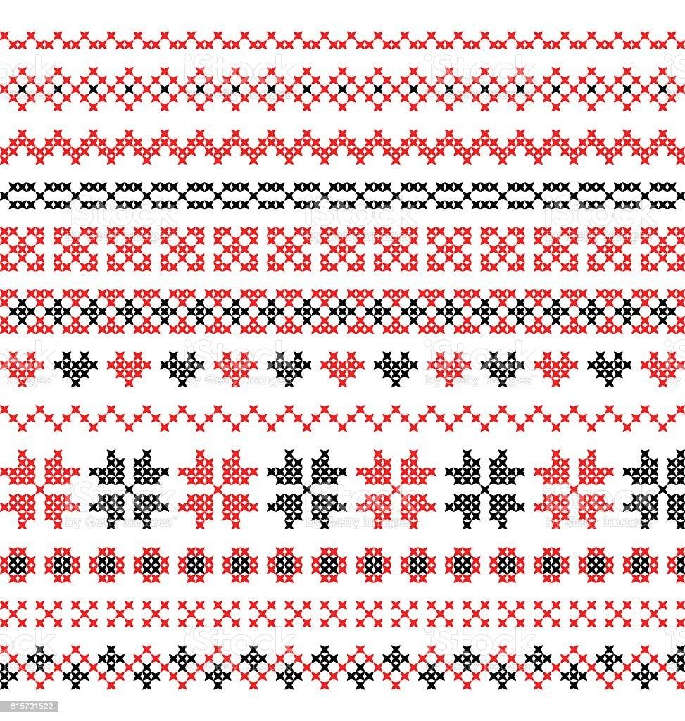 cross stitch pattern vector vector art illustration