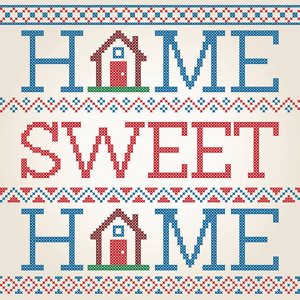 Home Sweet Home Illustrations Royalty Free Vector