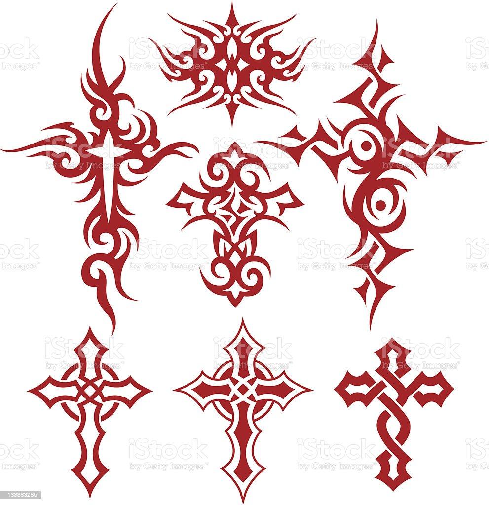 cross symbol set royalty-free stock vector art