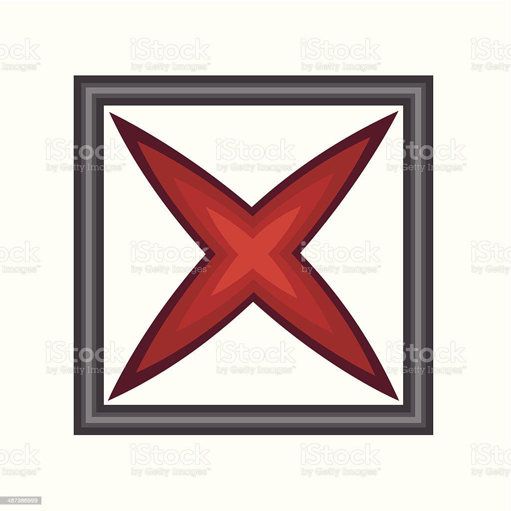 Cross Symbol royalty-free stock vector art