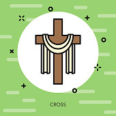 Cross Thin Line Italy Icon