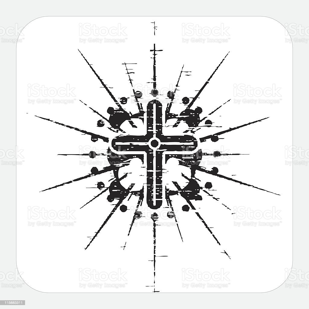 Cross royalty-free cross stock vector art & more images of black color