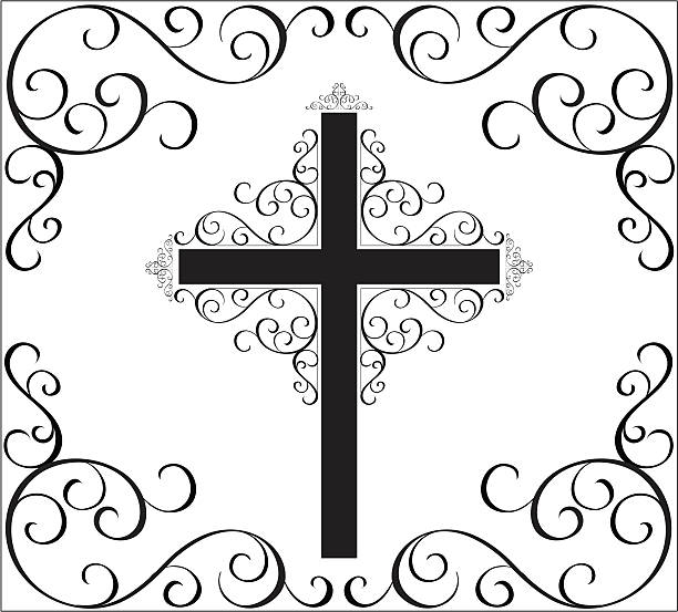 cross vector art illustration