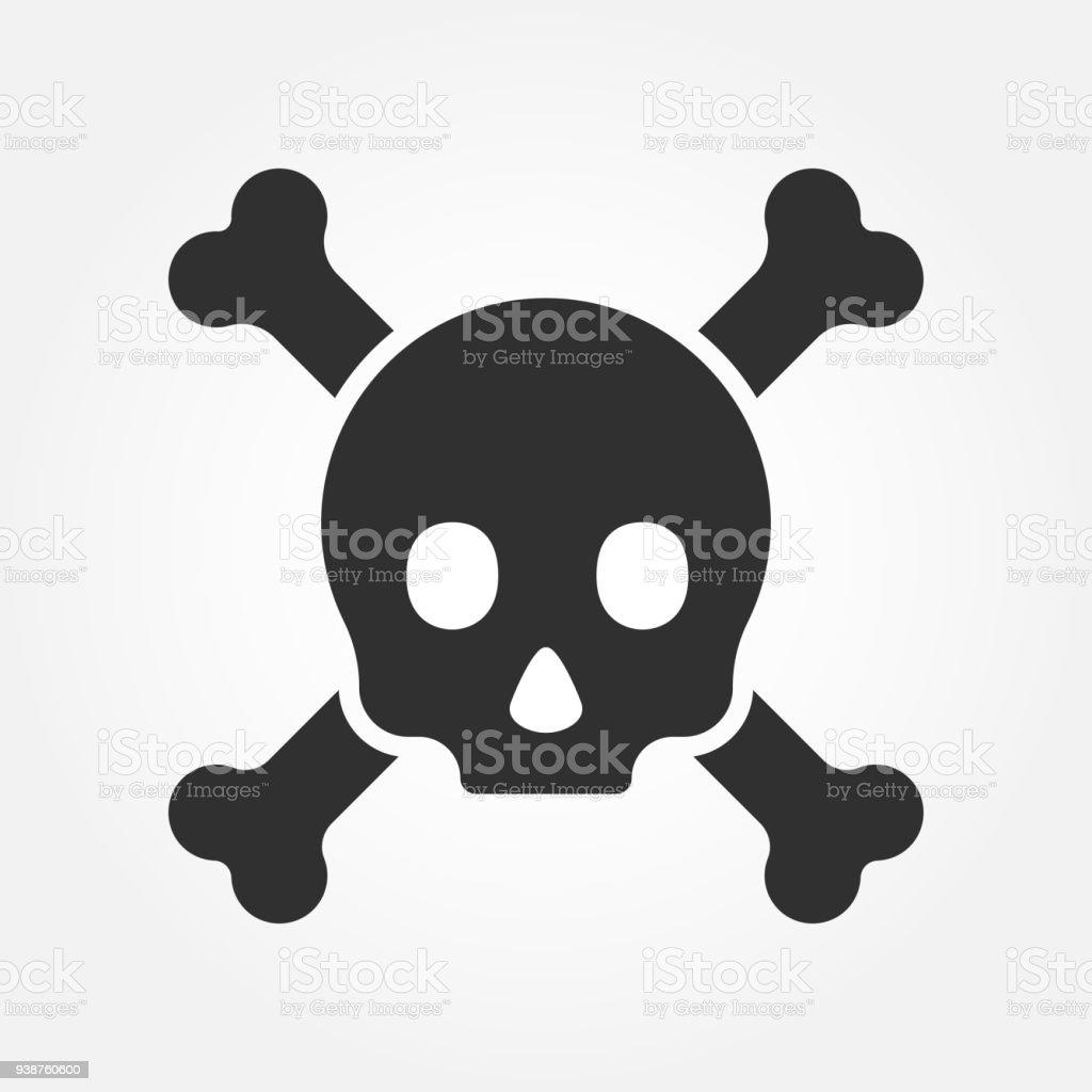 Totenkopf Oder Tod Schädel Gefahr Oder Giftig Symbol Für Anwendungen ...
