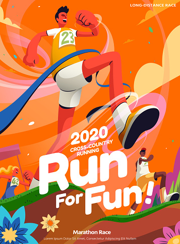 Cross-country running event poster
