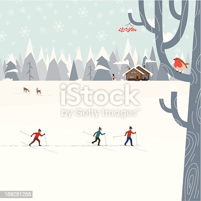 istock Cross-country skiing 159251255