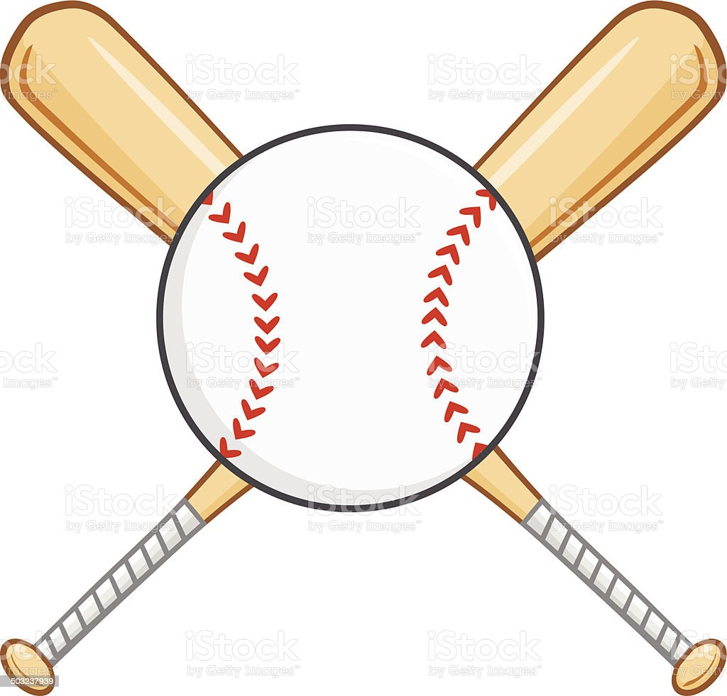 crossed baseball bats with ball stock vector art more images of rh istockphoto com Vector O Baseball Bat Baseball Bat Clip Art