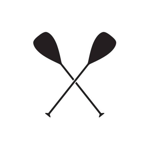 illustrations, cliparts, dessins animés et icônes de traversée de rames de bateau - sports de pagaie