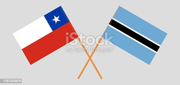 istock Crossed flags of Botswana and Chile 1292353929