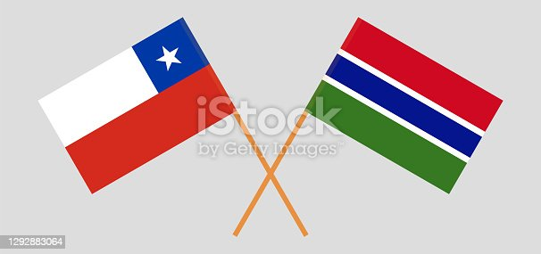 istock Crossed flags of Chile and the Gambia 1292883064
