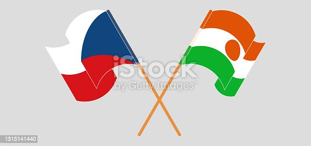 istock Crossed flags of Czech Republic and the Niger. Official colors. Correct proportion 1315141440