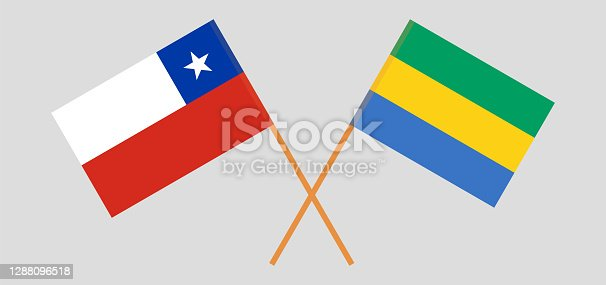 istock Crossed flags of Gabon and Chile 1288096518