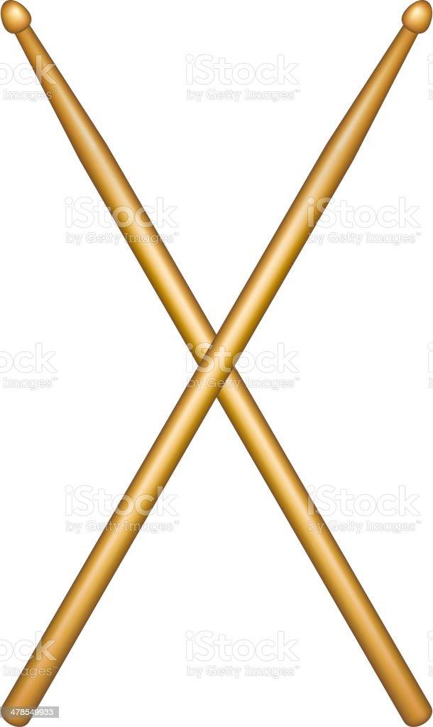 Croisés paire de ou les manchons en bois - Illustration vectorielle