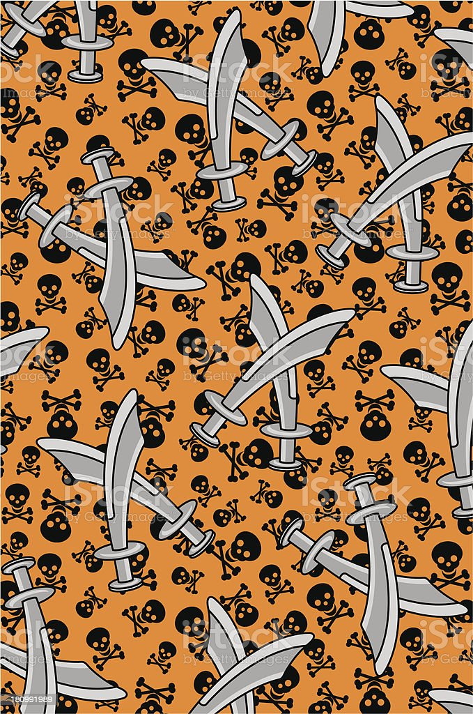 Crossed Swords with Skull and Crossbones Pattern royalty-free crossed swords with skull and crossbones pattern stock vector art & more images of backgrounds