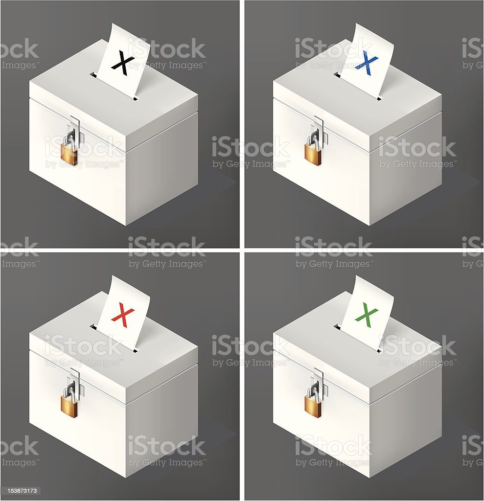 Crossed voting ballot royalty-free stock vector art