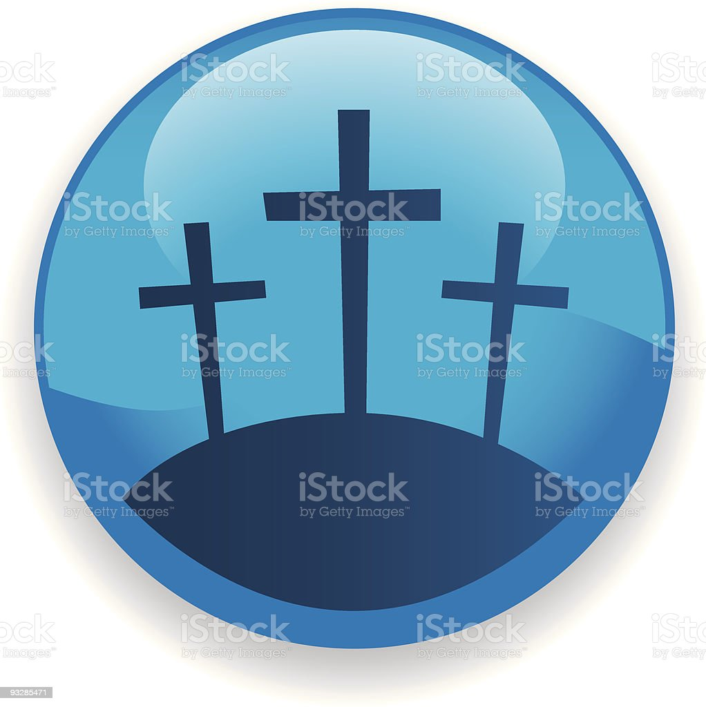Crosses Icon royalty-free crosses icon stock vector art & more images of blue
