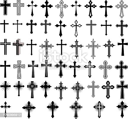 clip art illustration of crosses