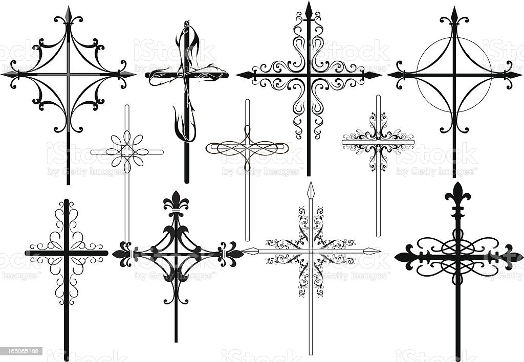 crosses royalty-free stock vector art