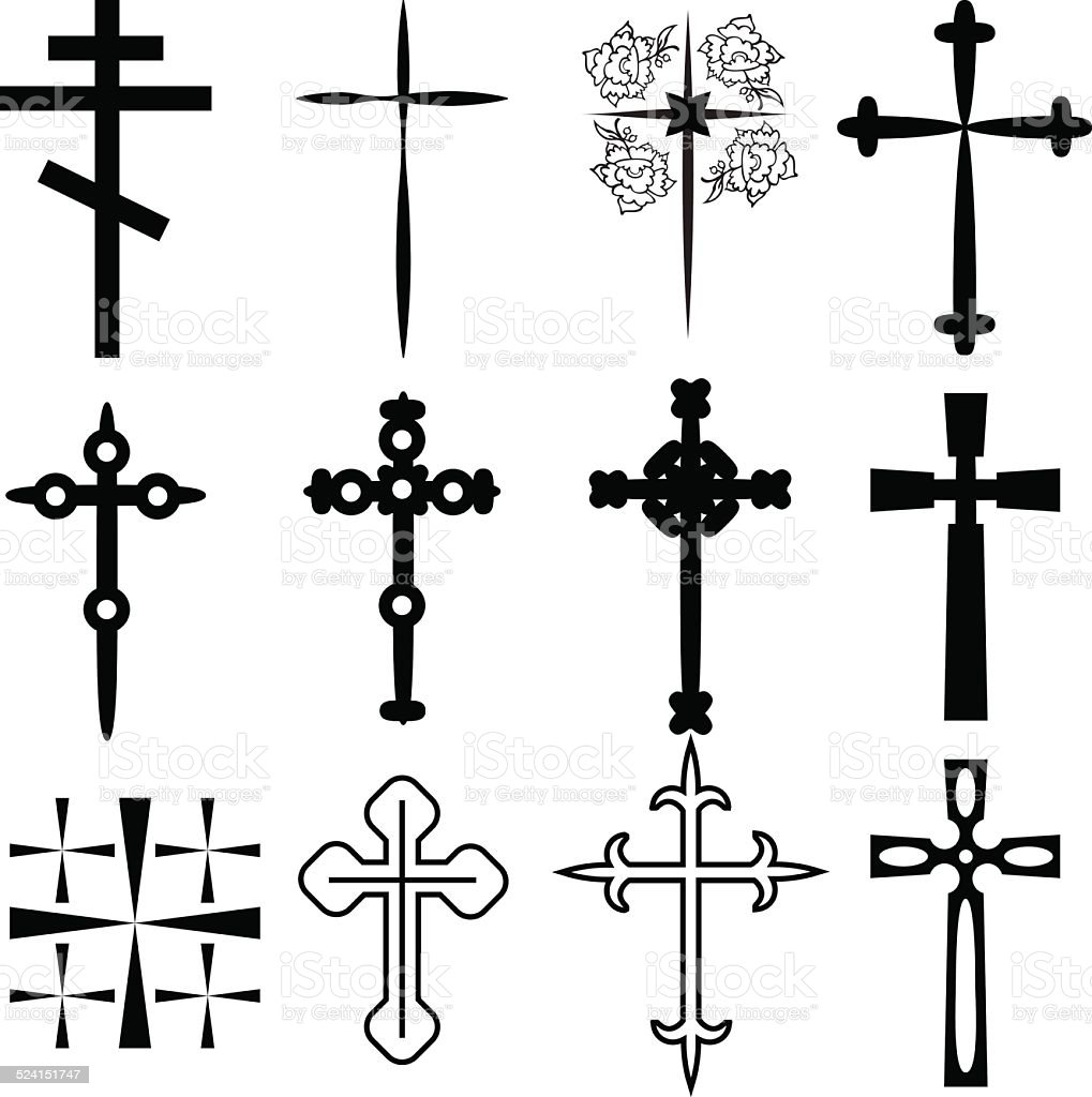 Crosses vector art illustration