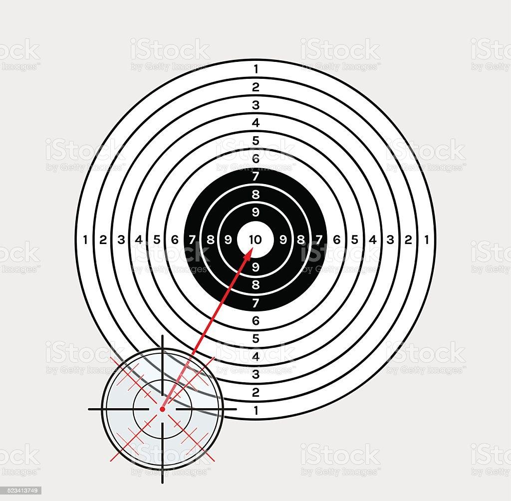 crosshair and target vector art illustration