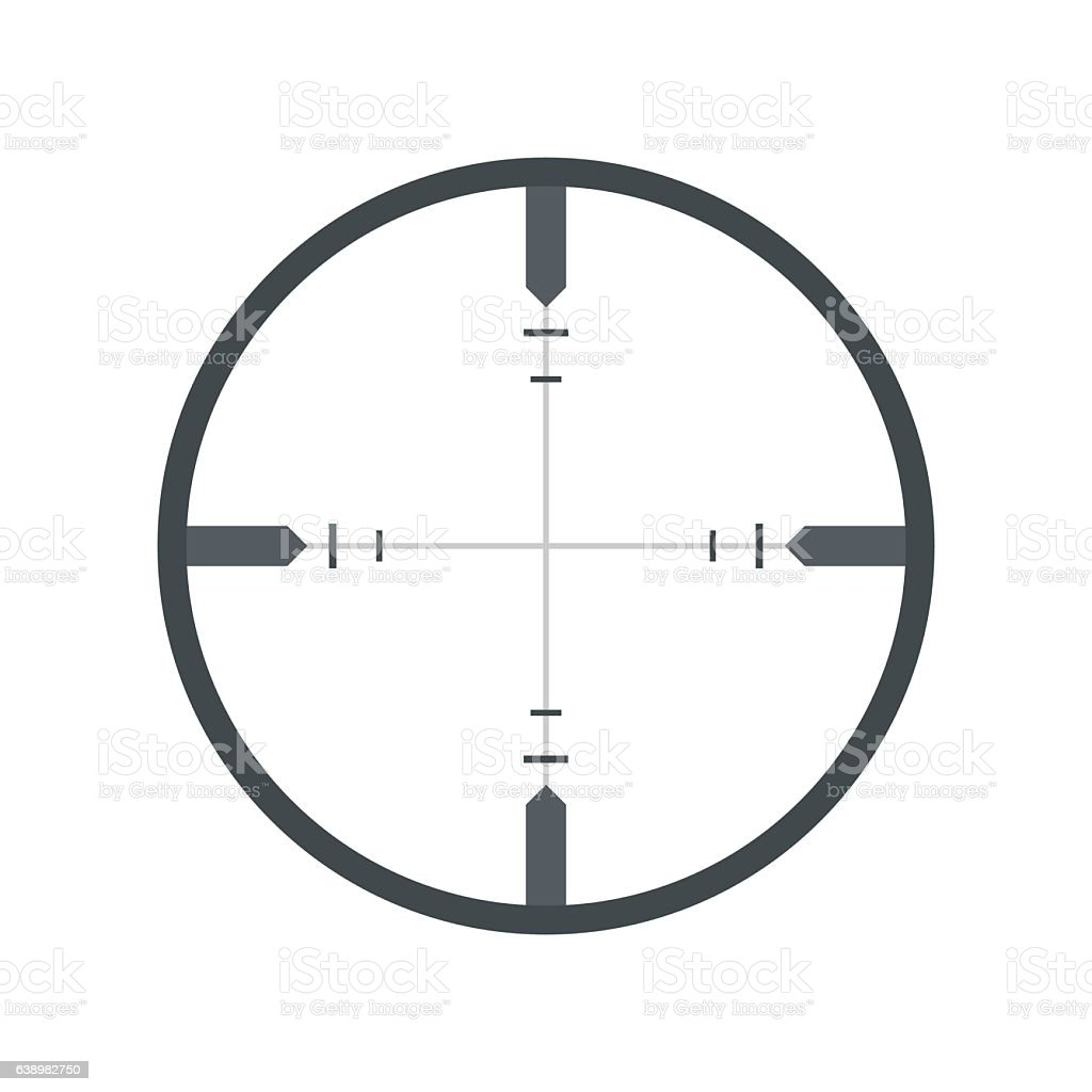Crosshair flat icon vector art illustration