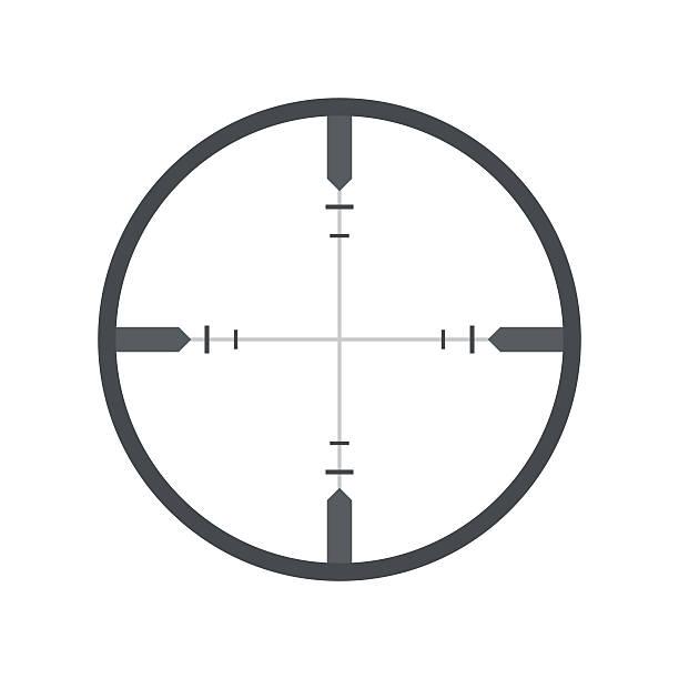 перекрестие плоский значок - глаз человека stock illustrations