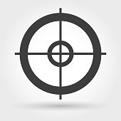 Crosshair icon on white