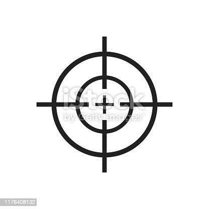 Beautiful vector design illustration of crosshair icon islated on white background